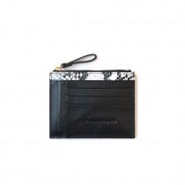 Celia 卡片拉鍊包-黑白雙色款