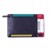 Odette 護照夾-黑紅雙色款