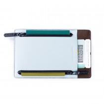 Odette 護照夾-淺藍雙色款
