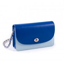Violetta 小肩包-雙色藍撞色款