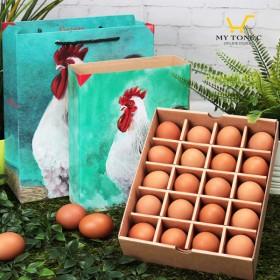 【土雞蛋】極上紅蛋/雷雕蛋禮盒-婚禮小物版-20顆裝(最低訂購量30盒起)