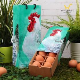 【土雞蛋】極上紅蛋/雷雕蛋禮盒-婚禮小物版-10顆裝(最低訂購量50盒起)