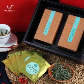 【伊晉萱】南投大鞍竹青茶-木紋茶包禮盒(2入-各10包)