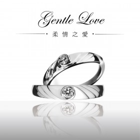 【Marry Diamond】亞洲首創時尚品味鑽戒《Gentle Love柔情之愛》對戒